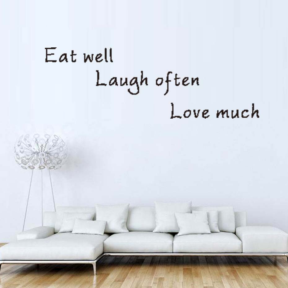 To Live Well is To Eat Well Vinyl Wall Decal Sticker Home Décor Family