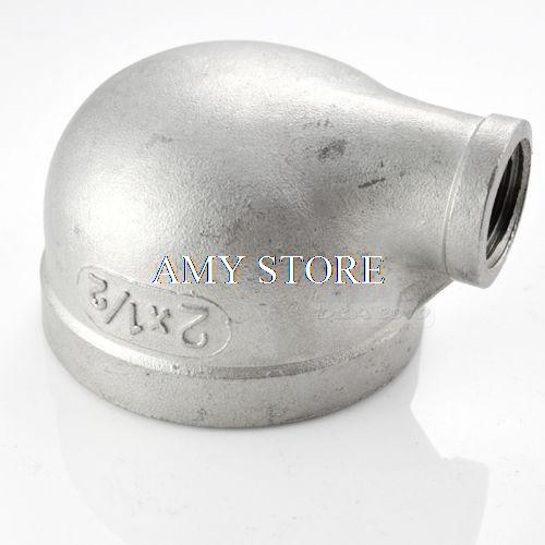 2X1/2 Female Threaded Elbow Reducer Pipe Fitting 90 Degree angled SS304 BSP 1 2 x 1 2 threaded 90 angle elbow pipe fitting connector nipple