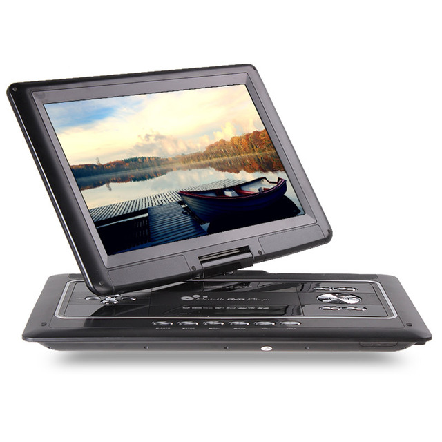 DVD HD Player portable EVD player 18 inch with a small TV with T card USB Function.