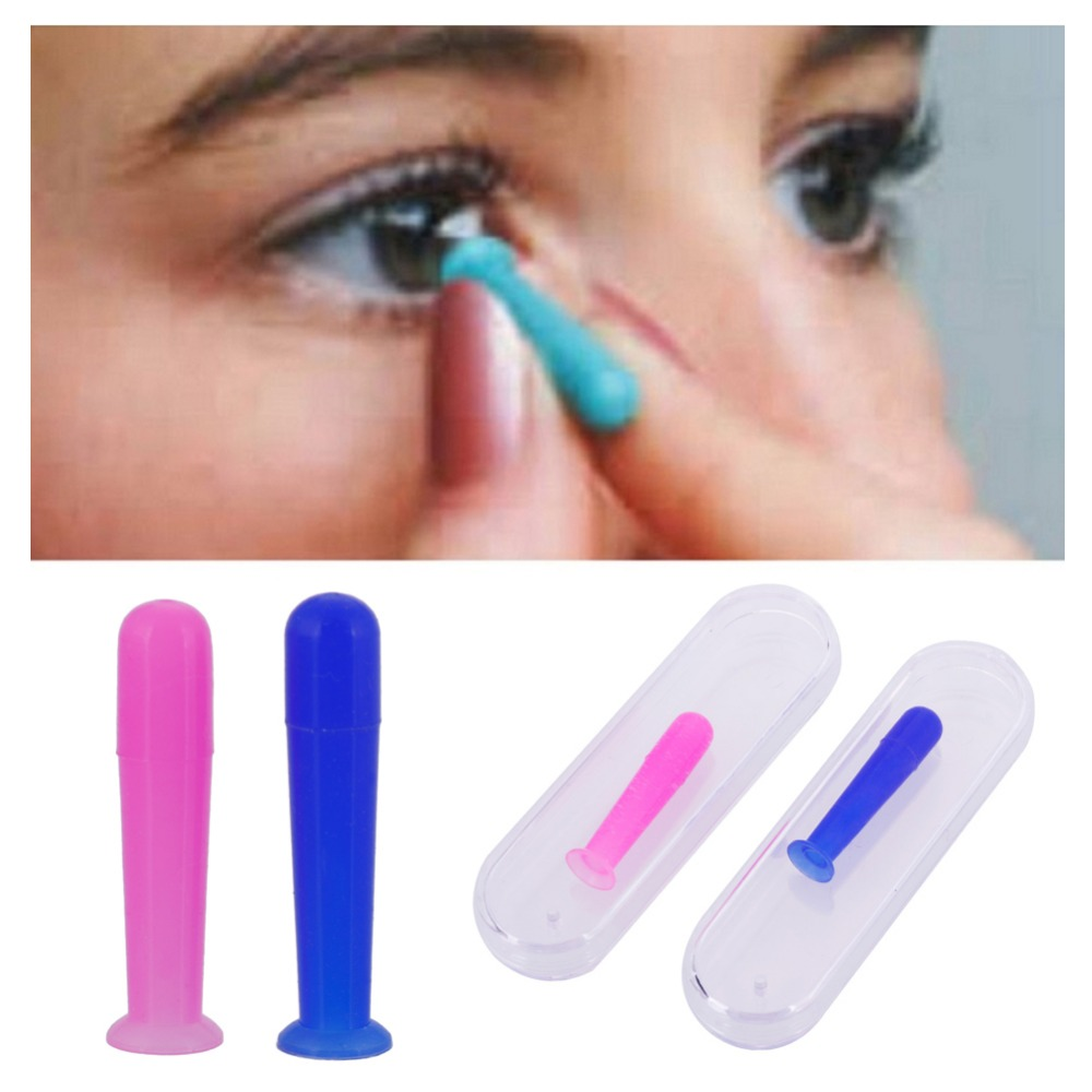 1PC Portable Contact Lens Inserter Remover Suction Holder Stick Tool For RGP Color Random #271634 random color hook 1pc