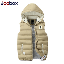 JOOBOX Brand 2017 Hot Sale Winter Vest Men Waistcoat High Quality Cotton-padded Chaleco Sleeveless Jacket Brand Limited Clothing