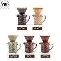 Yrp 300ml v60 novidade 5 cores café valor pacote cerâmica dripper café resistente ao calor vasos de café funil filtros jarra café|Cafeteiras| |  -