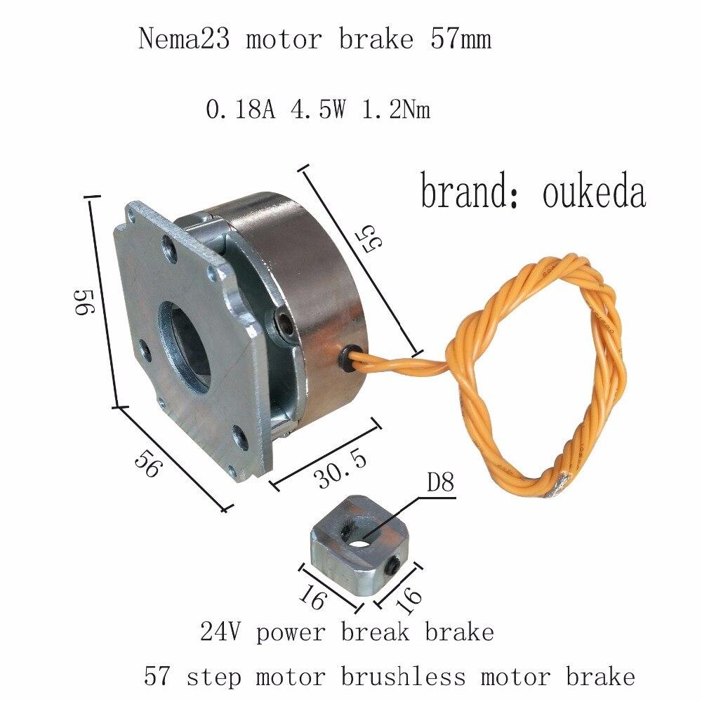 Nema23 24v stepper motor brake brake power brake 24V 57 stepper motor brake italy mae stepper motor 57 stepper motor 84v 3a high power stepper motor
