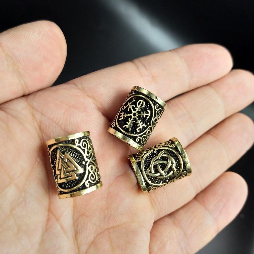 Perles Cheveux Viking en métal  argent ou Bonze | Rasta-Lion