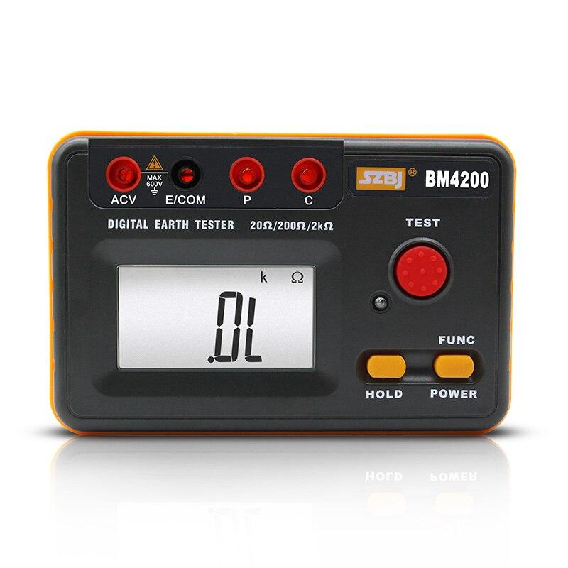 SZBJ BM4200 digital earthing resistance tester 2000 earth lightning meter