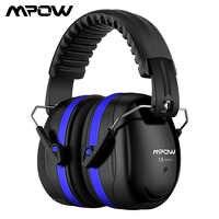 Mpow HP056 SNR34dB Noise Reduktion Ohrenschützer Shooter Gehörschutz Faltbare Kopf Band Ohr Tasse Mit Weichen Schaum Für Erwachsene