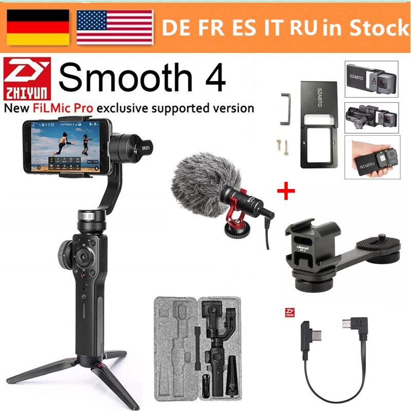 Zhiyun Lisse 4 3-Axes De Poche Smartphone stabilisateur de cardan pour iPhone XS Max XR X 8 Plus 8 7P7 Samsung s9 S8 S7 & caméra d'action