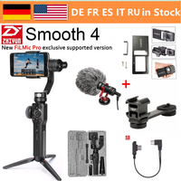 Zhiyun Smooth 4 3 Axis Handheld Smartphone Gimbal Stabilizer for iPhone XS Max XR X 8Plus 8 7P7 Samsung S9 S8 S7 & Action Camera