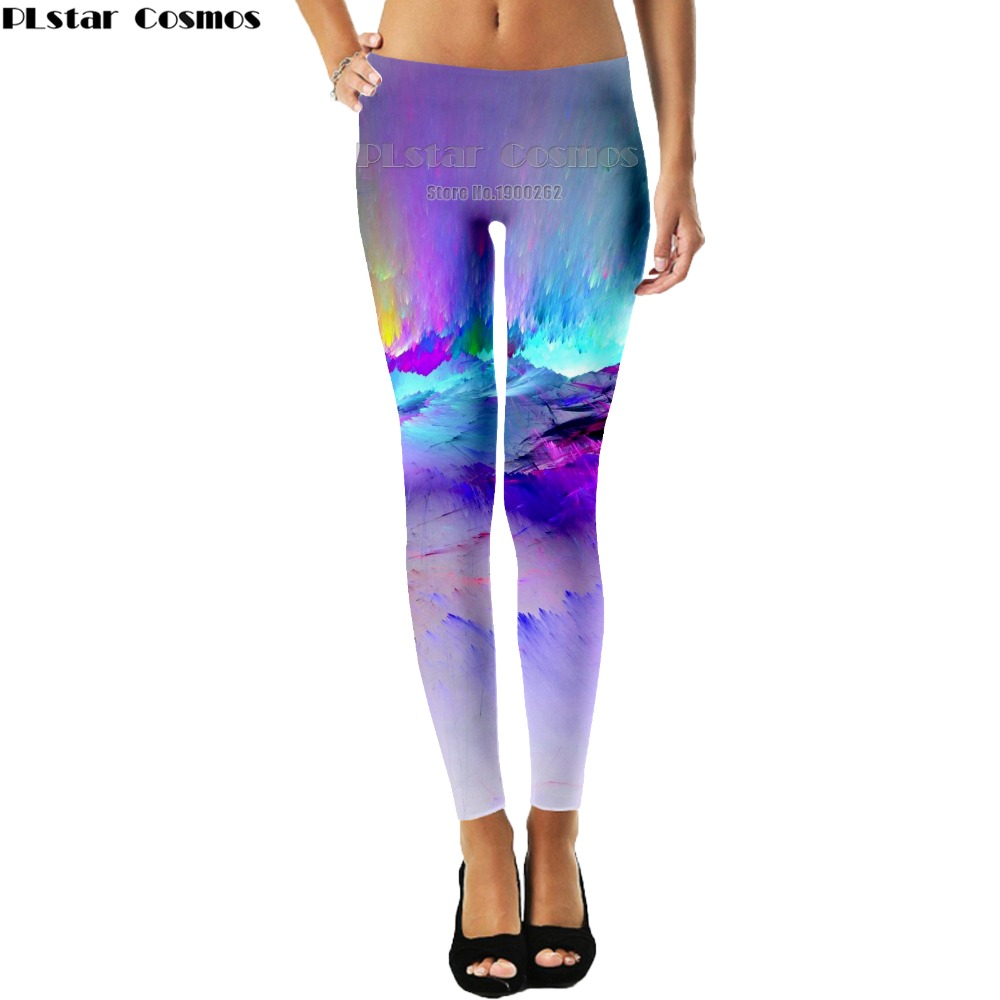 PLstar Cosmos Color explosion colorful new style women Pants 3D Print Comfortable Leggings Pants New Plus size S-5XL