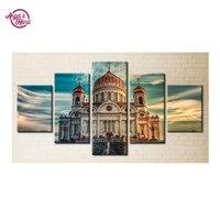 Art Home Beauty 3d Diy Full Diamond Painting Embroidery Kits Crystal Rhinestone Picture Diamond Mosaic Gift