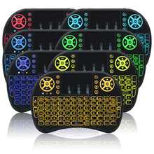 ChonChow 7 Color Backlit i8 Mini Computer keyboard 2.4ghz German Language Wireless Keyboards For Android Smart TV and Windows PC все цены