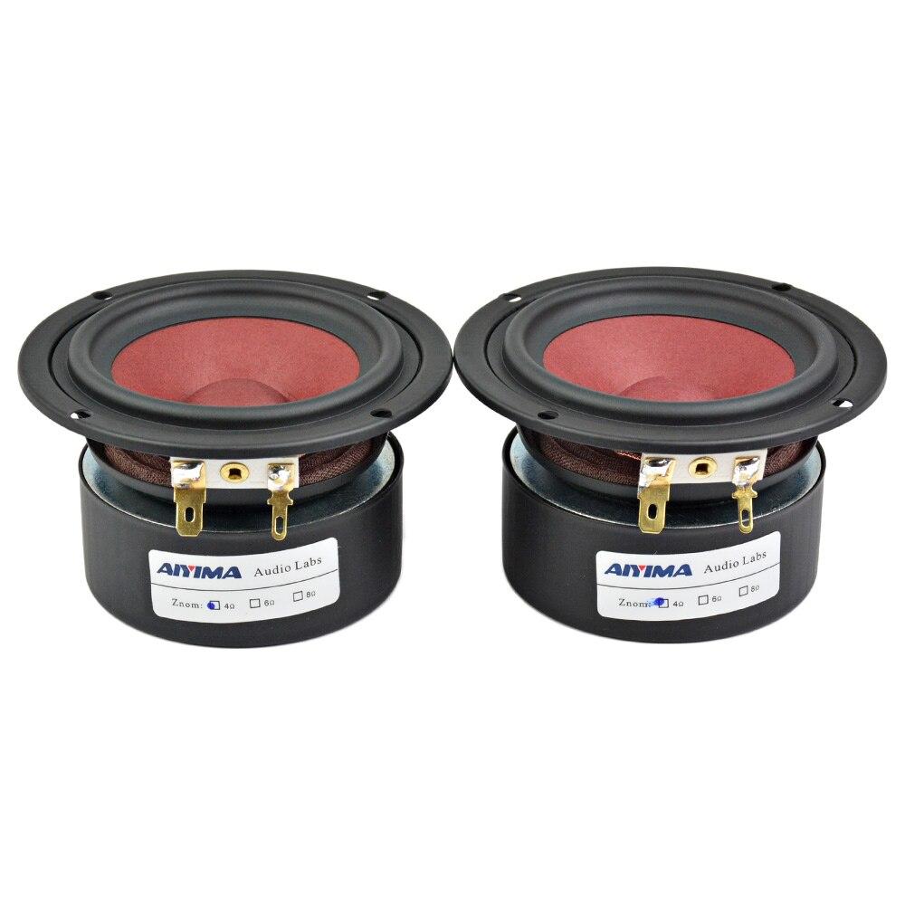 Aiyima 2PC 3Inch Audio Speakers 4Ohm 8Ohm 20W Full Range Speaker HiFi Loudspeaker For TV Computer Desktop Bluetooth Audio DIY