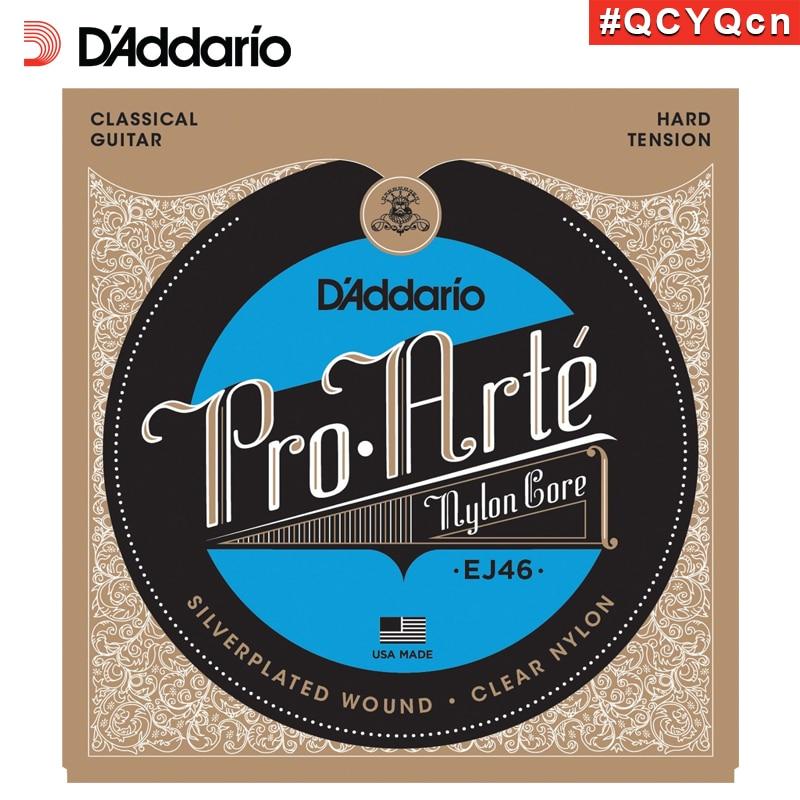 DAddario Daddario EJ46 American Made Pro-Arte Nylon Classical Guitar Strings, Hard Tension