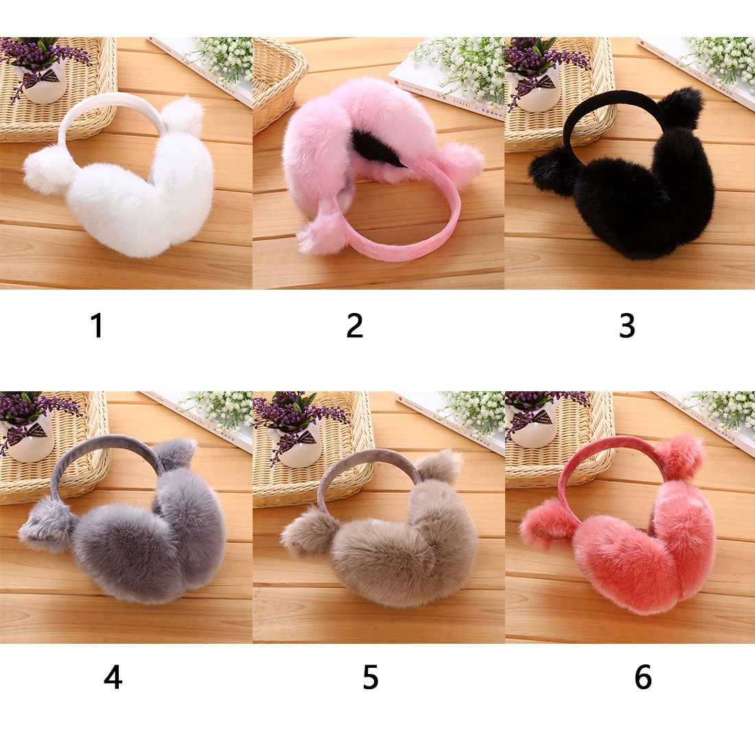 2017 Charming Fashion Rabbit Winter Earmuffs For Women Warm Fur Earmuffs Winter Warm Ear Warmers Gifts For Girls Female