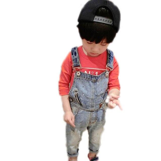 54e1bb9bf65ce 2018 automne bébé garçon vêtements garçon pantalon jeans salopette en denim  enfant jeans pantalon enfants denim
