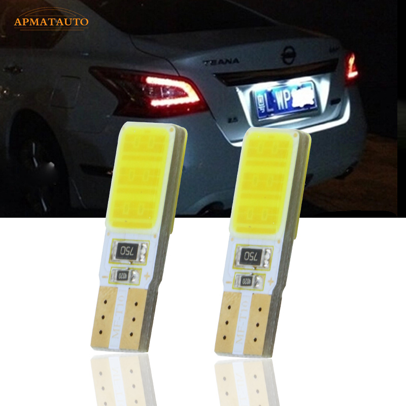 2x T10 W5W License Number  Plate Light LED Bulbs Lamp For Nissan Qashqai Bluebird Teana Sunny Tiida X-Trail Livina Lefiro Geniss motorcycle tail tidy fender eliminator registration license plate holder bracket led light for ducati panigale 899 free shipping