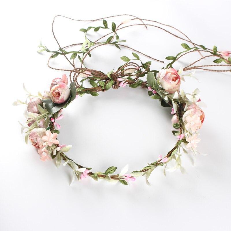 Women Wedding Flower Wreath Crown Headband Beach Floral Garlands Hair band Decor