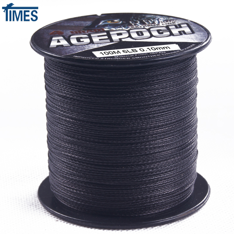 Brand 4 strands 100m 300m 500m 1000m 6 100lb ultra strong for Black braided fishing line