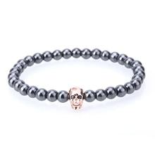 Black Hematite Stone Bead Bracelet
