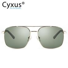 Cyxus Polarizada Óculos De Sol UV 400 Praça Shades Homens Mulheres Clássico com Proteção UVA UVB Unisex 1002