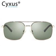 Cyxus поляризованные солнцезащитные очки Классические UV 400 квадратные оттенки мужские и женские мужские с UVA UVB Защита унисекс 1002