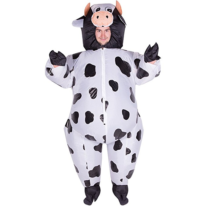 Animal Cosplay Inflatable Cow Costume Halloween Party Cosplay Adult Child Fancy Inflatable Costume