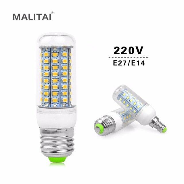 1Pcs E27 E14 30/36/48/56/69/89/102 LEDs Corn lamp 220V LED Spot light Bulb Replace CFL Fluorescent Light 7W 12W 15W 25W 30W 35W