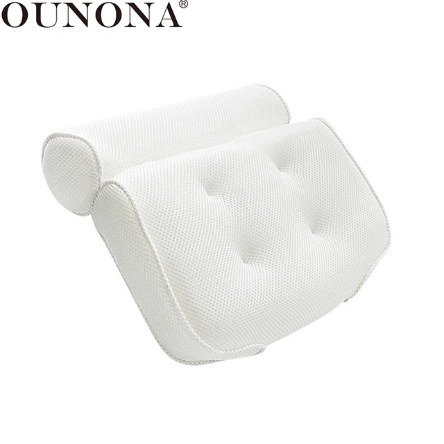 US 37 OFF Buy OUNONA Breathable 3D Mesh Spa Bath Pillow With Suction Cups Neck And Back Support Spa Pillow For Home Hot Tub