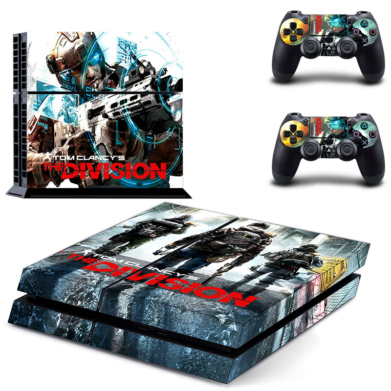 US $7 58 5% OFF|PS4 Vinly Skin Tom Clancys The Division Cover Sticker Cover  for Sony PS4 PlayStation 4 and 2 controller skins-in Stickers from