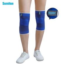 Фотография 1pair Elastic Bandage Blue Knee Braces Knee Support Brace Foot Arthritis Injury Sleeve Elbow Pads Knee Pads Z740