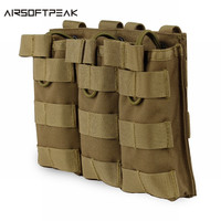 Camouflage Tactical Triple Magazine Pouch Military Army MOLLE Vest Belt Hunting Utility Flashlight Bags Ammo Cartridge