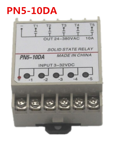 цена на rail mounting PN5-10DA 5 Channel SSR quintuplicate five input 3~32VDC output 24~380VAC single phase DC solid state relay