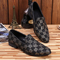 Glitter Casual Flats Round Toe Men Shoes Male Loafers Zapatillas Deportivas Hombre 2017 Rome Party Shoes Fashion Big Size 46