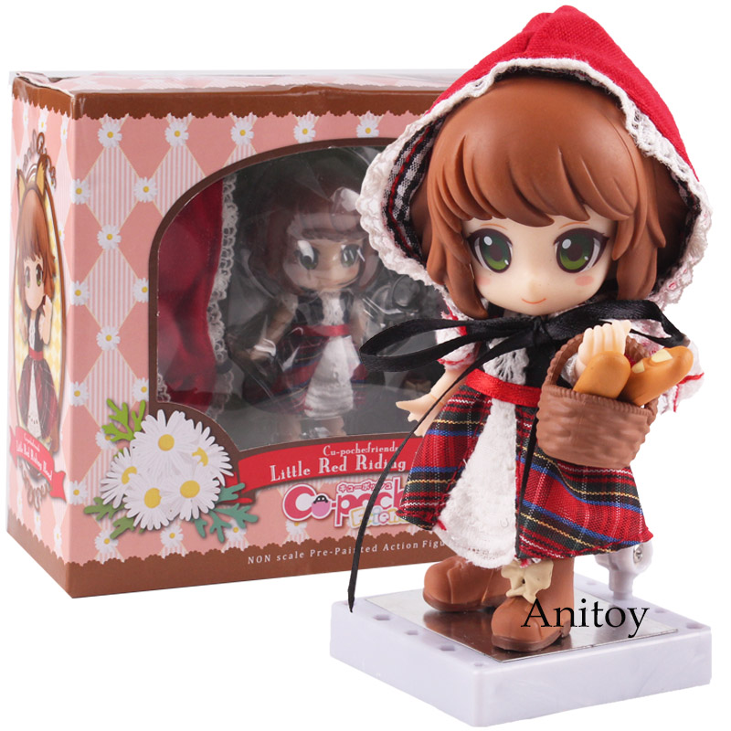 Cu-poche friends Little Red Riding Hood Real Clothes Ver. PVC Action Figure Collectible Model Toy Model Figures Pvc Toys grimm brothers little red riding hood storytime pupil s book stage 1 учебник