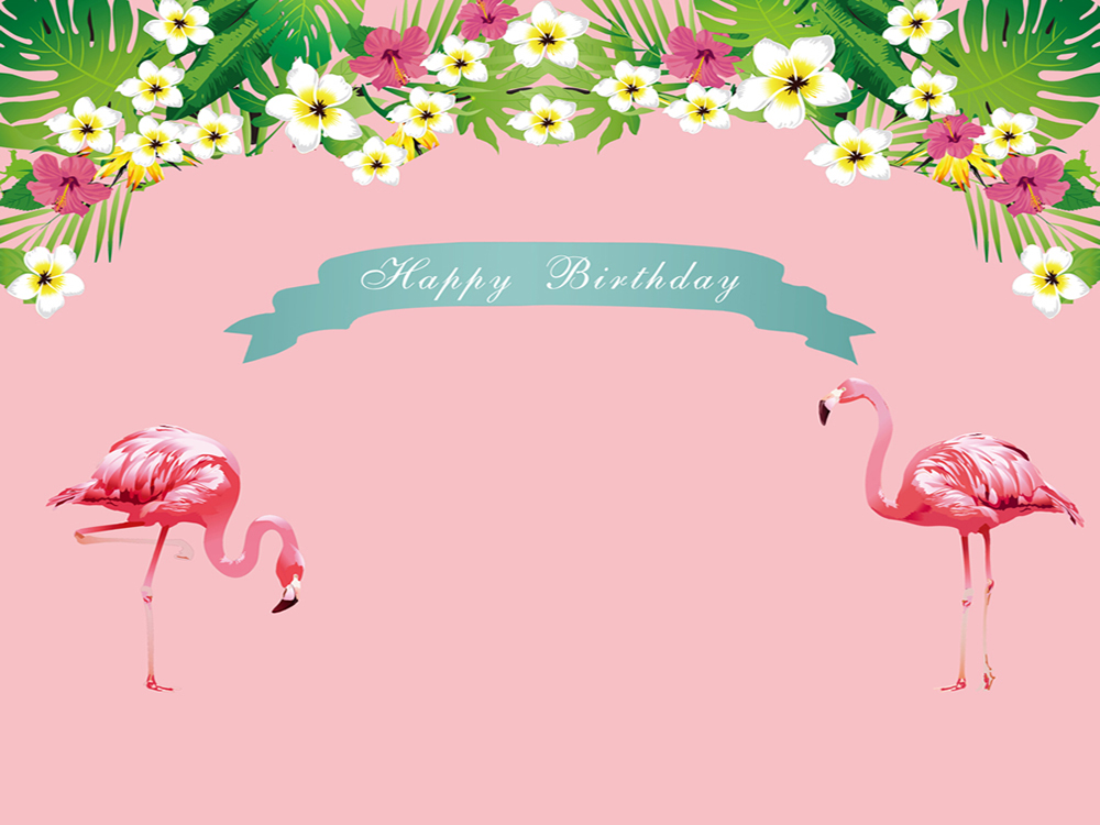 flamingo floral tropical style photography background baby