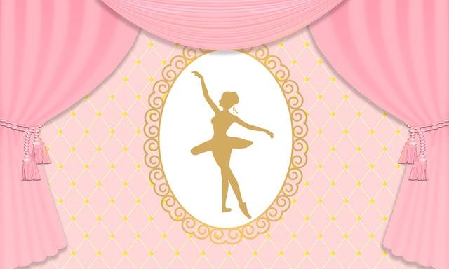 Huayi Girl Birthday Backgrounds For Photography Studio Pink Backdrop