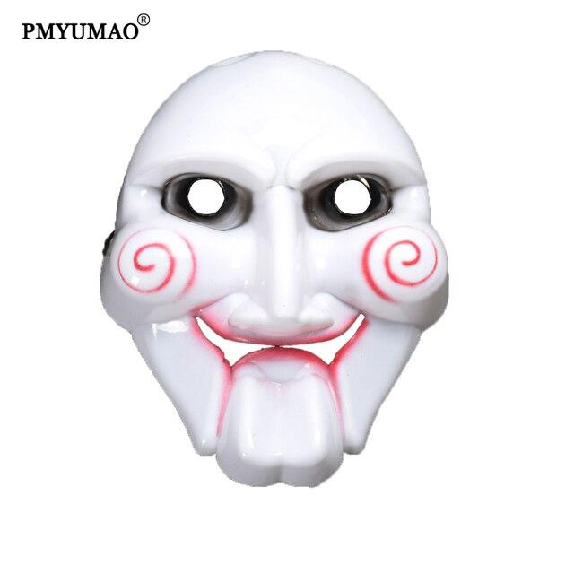 acquista per a buon mercato Il miglior posto US $15.8  5 pz/lotto PVC Masquerade Halloween FAI DA TE Regalo di Halloween  Maschera Saw Motosega Assassino Tema Maschera Grande Qualità PM068 in 5 ...