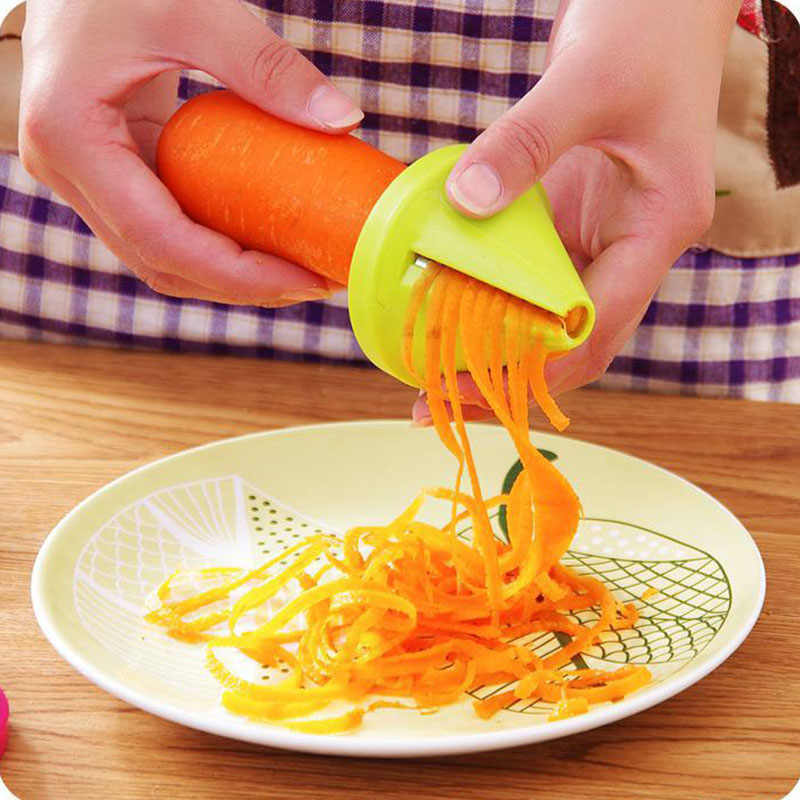 Creativity Kitchen Supplies Multi-function Spiral Shred Machine Simple Convenient Fast Melon Fruit Vegetables Grater Small Tools