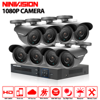 HD 8Channel Home Surveillance System 8CH AHD DVR Kits 2 0MP 1080P 3000TVL Waterproof CCTV Security