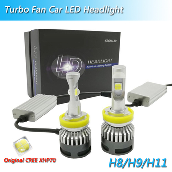 Super bright H7 Led bulbs 110W 13200lm 12V C-ree XHP70 Chips Auto headlights H4 H11 D2S HB3 HB4 9004 9007 H13 Automobiles lamp