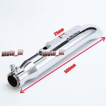 Galvanized Iron Muffler Exhausts Fits For Vintage Motorcycles, total 500mm