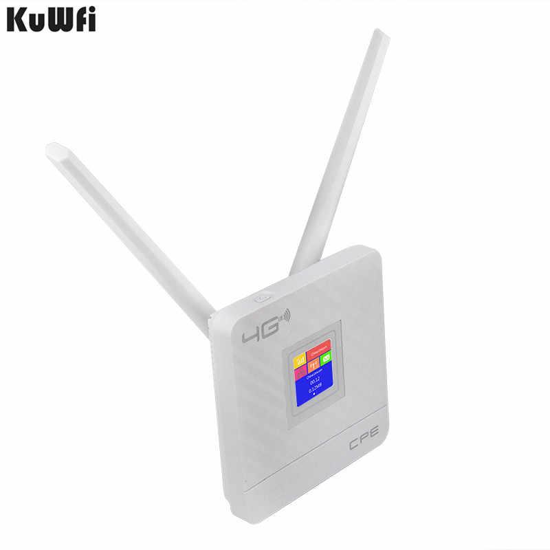KuWFi 4G CPE נתב Cat4 אלחוטי CPE LTE נתב כפול חיצוני 3DBI אנטנות עם כרטיס ה-SIM חריץ עבור בית /משרד B3/B5/B8/B41/B38