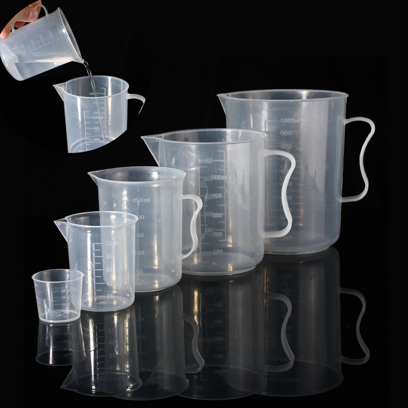 High Quality 5Pcs/Set 20ml/100ml/250ml/500ml/1L Container Laboratory Measuring Graduated Beaker Cup Jug Office Lab Supplies