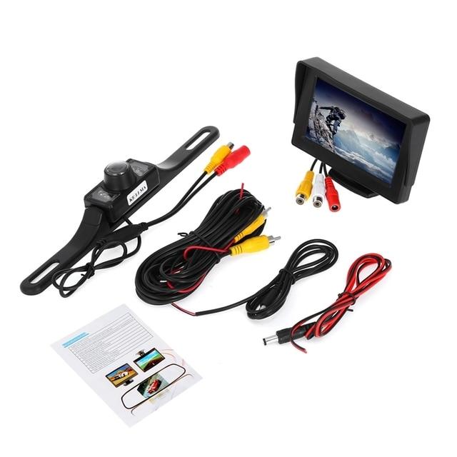 Бесплатный Shippnig KELIMA Автомобильная Камера Заднего вида с 7 LED Night Lights с 4.3 дюймов Дисплей 2-в-1 Комплект