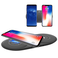 cargador 2 usb charger QI 10W Dual wireless charging for iphone x 8 plus samsung s7 s8 s9 phone charger for huawei mate 20 pro