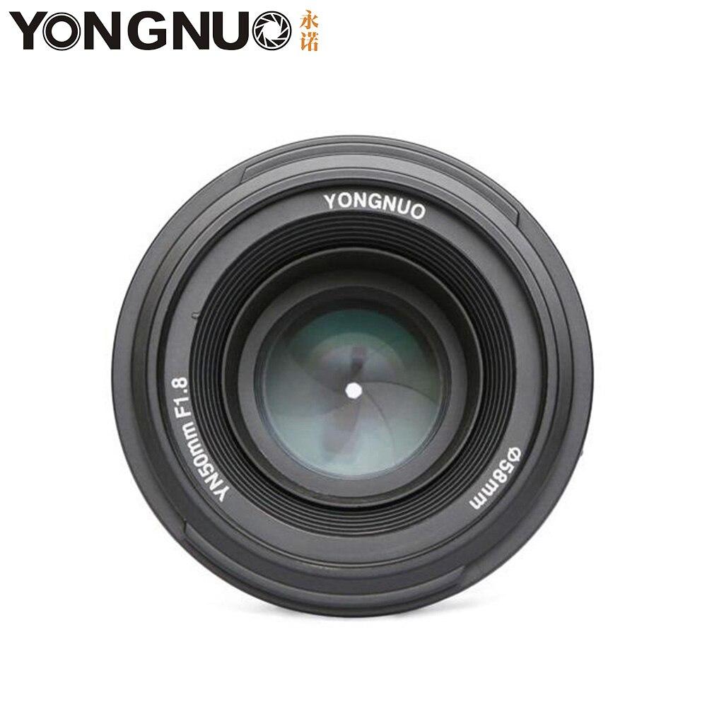 Image 2 - Camera Lens YONGNUO YN50mm F1.8 MF YN 50mm f/1.8 AF Lens YN50 Aperture Auto Focus for NIKON D5300 D5200 D750 D500 DSLR Cameras-in Camera Lens from Consumer Electronics