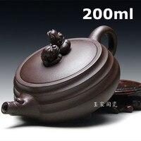 2015 Authentic Chinese Zisha Teapot Kung Fu Tea Clay Ore Brave Dragon Special Offer Tetera All Handmade Tea Pot 200ml Wholesale