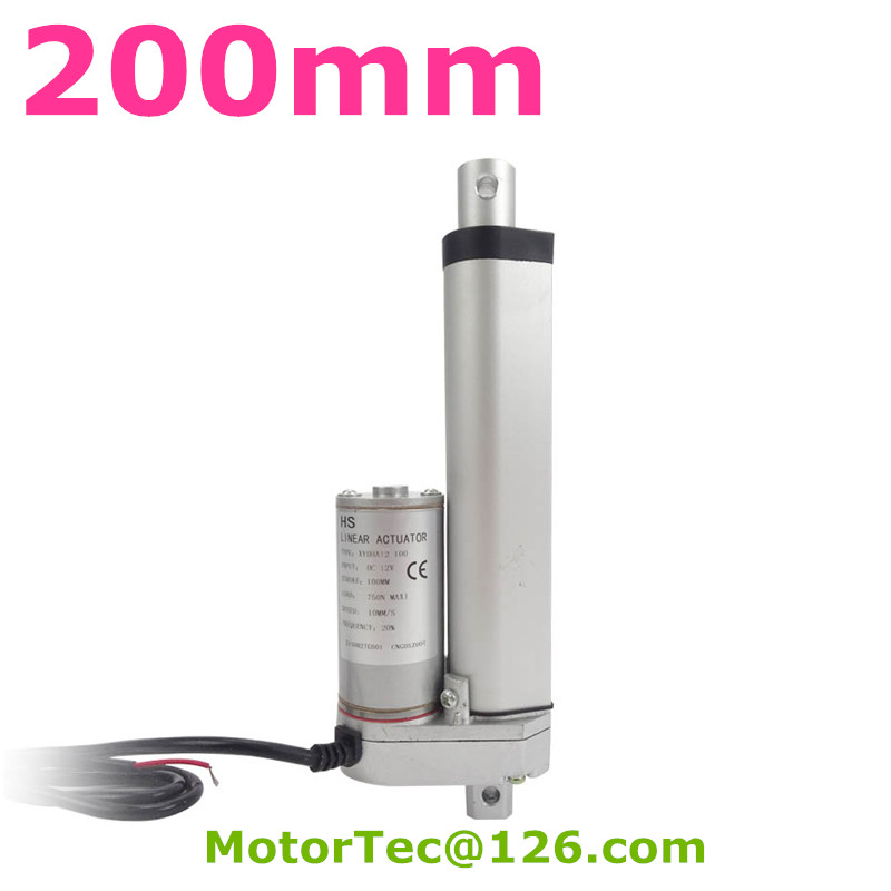 200mm stroke 1500N 150KG load capacity high speed 12V 24V DC electric linear actuator,actuator linear 450mm stroke 1500n 150kg load capacity high speed 12v 24v dc electric linear actuator actuator linear