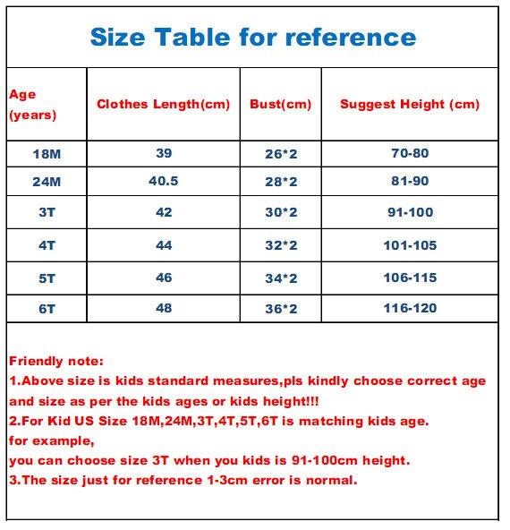 tshirt056 size tabel