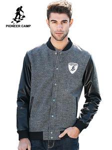 Мужская кожаная куртка Pioneer Camp, новая весенняя куртка-бомбер, 622022